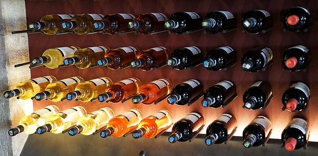 vinhos armazenados